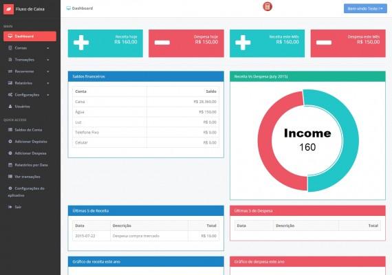Novo Produto na Loja Virtual MFORMULA: Fluxo de Caixa de Contas, Transações, Recorrentes, Relatórios a Pagar e Receber com Gerenciamento de Usuários