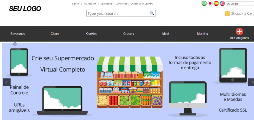 Supermercado Virtual - Loja Virtual para Supermercado